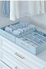 2pcs Closet Underwear Storage Box Compartment