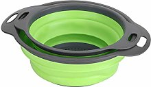 2Pcs Collapsible Colander, Plastic Strainer for