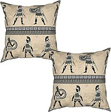 2Pcs Cushion Covers Antique with Ancient Greek
