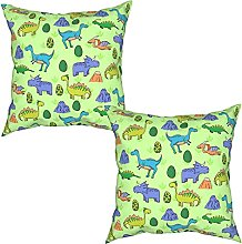 2Pcs Cushion Covers Seamless pattern with