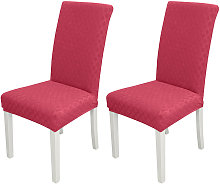 2pcs Dining Chair Slipcover, High Stretch