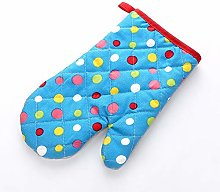 2PCS Double Oven Gloves, Cotton Novelty And Wave