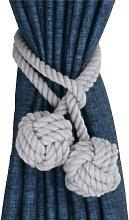 2pcs Drapery Hold backs Hand Knitting Braided