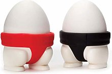 2PCS Egg Cup, Creative Sumo Egg Cup, Fun Boiled