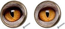2Pcs Eye Design Cabinet Drawer Pull Knob Door