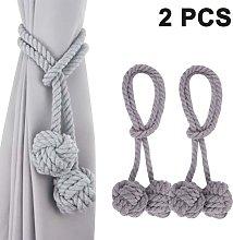 2pcs Fine Hand Tied Curtain Clip Drapery Tassels
