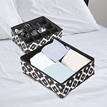 2pcs Foldable Storage Box Underwear Organizer