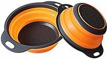 2pcs Foldable Vegetable Fruit Filter Baskets