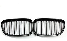 2PCS Gloss Black Front Kidney Grille Grill For BMW