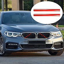 2PCS Grille Insert Trims Grill Stripes Car Styling