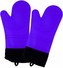 2pcs Heat Resistant Silicone Oven Gloves Baking