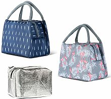 2pcs Insulated Lunch Bags, Insulated Tote Bag,