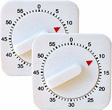 2pcs Kitchen Craft Wind Up Timer 1Hr/60Min Alarm