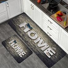 2PCS Kitchen Floor Carpet Area Rug Mat Non-Slip