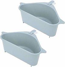 2Pcs Kitchen Sink Caddy Sponge Holder Triangular