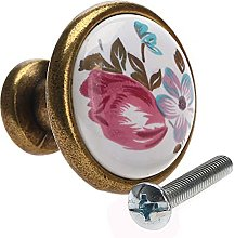 2pcs Knobs Antique Brass Cabinet Closet Door