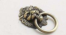 2pcs/lot Antique Brass Lion Head Wardrobe Door