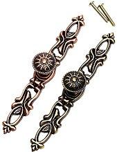 2pcs/lot Brass Door Handle Knobs Retro Antique