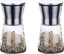 2PCS Manual Pepper Grinders Salt Grinder Mill Sets