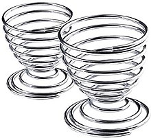 2Pcs Metal Spiral Spring Wire Tray Egg Cup Storage