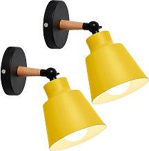 2PCS Minimalist Wall Sconce Nordic Yellow Modern
