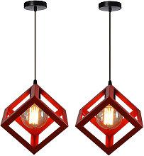 2pcs Modern Hanging Lamp Retro Ceiling Light
