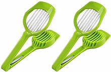 2Pcs Multipurpose Egg Slicer Cutter with Seven