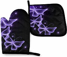 2PCS Oven Gloves and Pot Holders Sets,Beautiful
