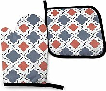 2PCS Oven Gloves and Pot Holders Sets,Nautical
