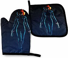 2PCS Oven Gloves and Pot Holders Sets,Perfect Dark