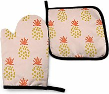 2PCS Oven Gloves and Pot Holders Sets,Pineapple