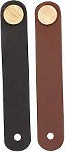 2PCS Practical Cabinet Door Handles Leather