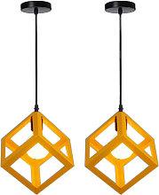2pcs Retro Ceiling Light Modern Hanging Lamp