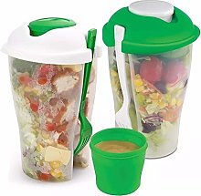 2Pcs Salad Containers Fresh Food Lunch Serving Cup