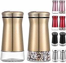2Pcs Salt and Pepper Shakers Set with Adjustable
