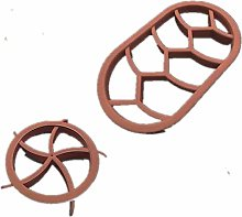 2Pcs/Set Circular Oval Bread Molds Pastry Cutter