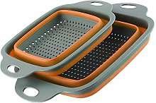 2pcs/Set Kitchen Collapsible Foldable Silicone