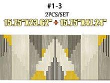 2pcs/Set Kitchen Floor Carpet Non-Slip Area Rug