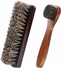 2Pcs Shoe Brushes, Soft Shoes Shine Brushes