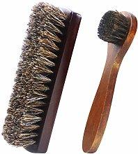 2Pcs Shoe Brushes, Soft Shoes Shine Brushes