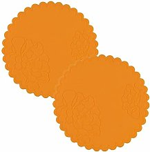 2PCS Silicone Drink Coasters Cup Pad Mat 10CM Non