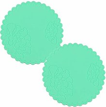 2PCS Silicone Drink Coasters Cup Pad Mat 14CM Non