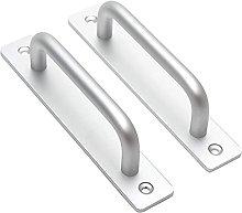 2PCS Silver Door Handle Aluminum Alloy Sliding