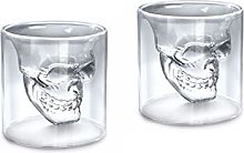 2pcs Skull Head Shot Glass Creative Designer