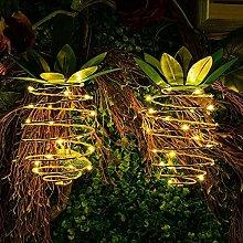 2pcs Solar Powered 25 LED Pineapple Lights Hanging
