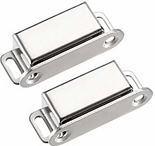 2Pcs Stainless Steel Door Cabinet Magnetic Catch