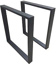 2PCS Table Legs Brackets Steel Industrial Desk Leg