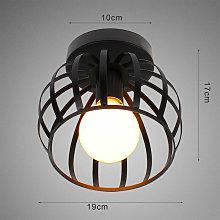 2pcs Vintage Ceiling Light Black Round Chandelier