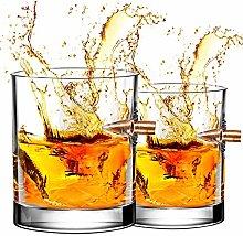 2PCS Whiskey Glasses - DINGZHAO Bullet Glasses,