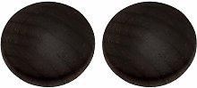 2pcs Wooden Cabinet Knobs,Door Handle Pulls Black
